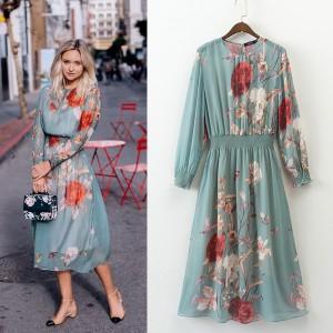 Midi cvjetna haljina dva modela