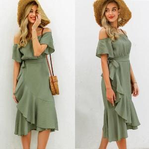 Asimetrična pamučna haljina na volane *Limitirana kolekcija*