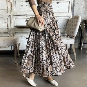 Midi plisirana suknja životinjskog printa na gumu