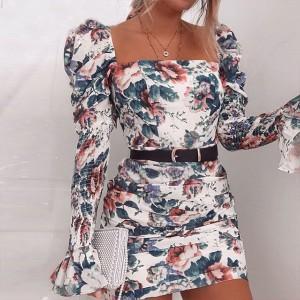 Mini nabrana haljina puf ramena  *limitirana kolekcija* 2 modela