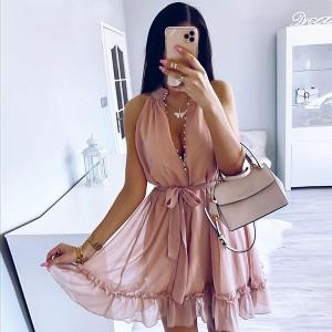 Mini plisirana haljina s mašnom oko struka *limitirana kolekcija*