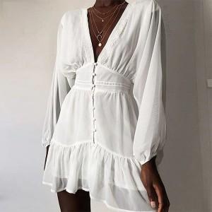 Mini čipkana haljina na volane *limitirana kolekcija*