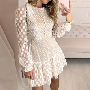 Mini vezena haljina na točkice *Limitirana kolekcija*