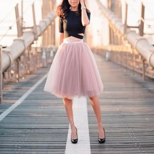 Midi suknja od tila od 5 slojeva 20 boja *Posebna ponuda*