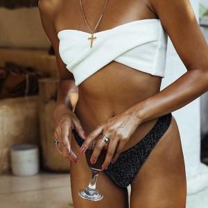 Bandeau kupaći kostim sa šljokicama 2 modela