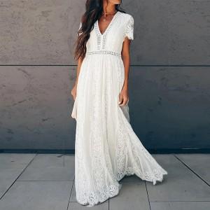 Duga boho čipkana haljina s uvezom *limitirana kolekcija*