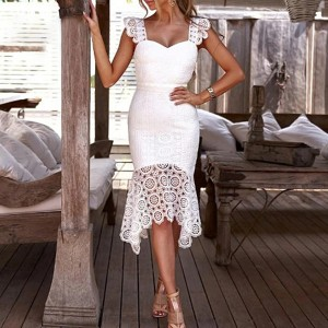 Svečana asimetrična haljina od čipke *limitirana kolekcija*