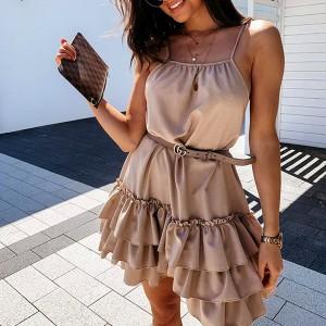 Mini haljina na višestruke volane