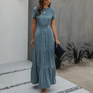 Duga haljina zvono kroja na volane *Limitirana kolekcija*