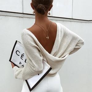 Pulover s preklopom dugih rukava standardni S