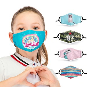 Maska za djecu s uzorkom s 2 filtera 9 printeva