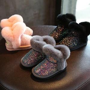 Dječje šljokičaste snježne čizme ispunjene krznom