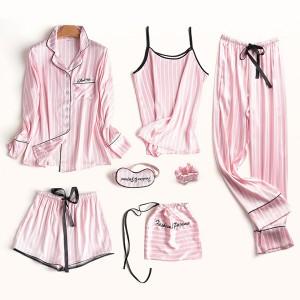 Satenasti set za spavanje pidžama od 6 dijelova + satenasta vrećica 26 BOJA