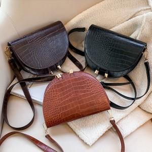 Mala messenger torbica izgleda kroko kože 3 BOJE