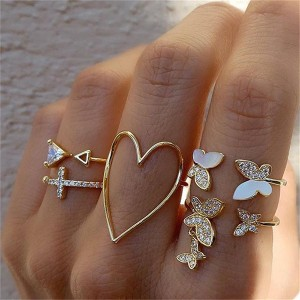 Set od 5 prstenja leptir *Limitirana kolekcija*
