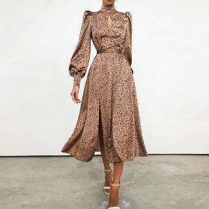 Midi satenasta točkasta haljina *Limitirana kolekcija*