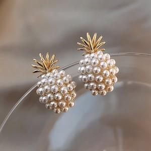 Biserne naušnice ananas oblika