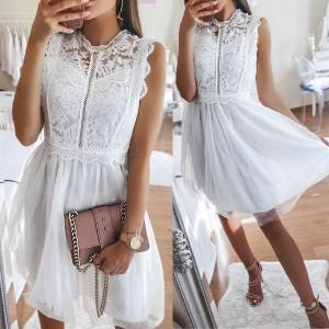 Mini haljina od tila s krupnom čipkom *Limitirana kolekcija*