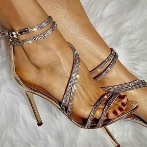 Luksuzne sandale s remenčićima od kristala 2 BOJE *Limitirana kolekcija*