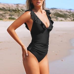 Push up kupaći kostim na volane s naborima za vizualno smanjenje trbuha 8 BOJA *Limitirana kolekcija*