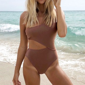 Jednodijelni rebrasti push up kupaći kostim s izrezima 3 BOJE  *Limitirana kolekcija*