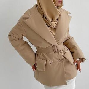 Puffer jakna s remenom u struku 3 BOJE