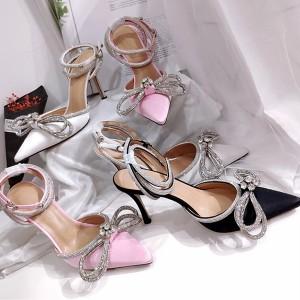 Luksuzne cipele na visoku petu s kristalima 4 BOJE