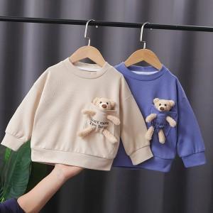 Majica za djevojčice i dječake s igračkom medvjedićem 3 BOJE