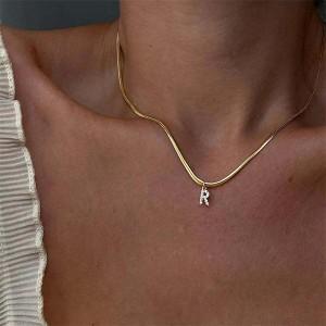 Lančić s kristalnim slovom A-Z