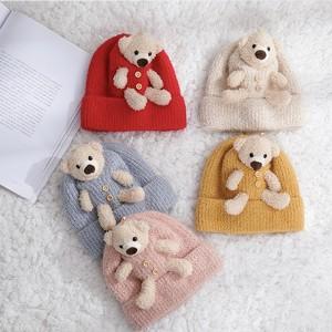 Dječja pletena kapa s medvjedićem za dob 1-2 g 5 BOJA