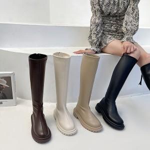 Ženske motorističke čizme do koljena 4 BOJE
