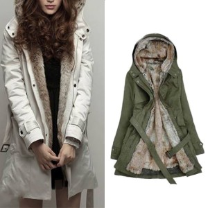 Zimska krznena jakna u dvije boje