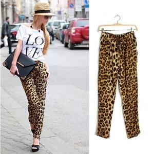 Leopard harem hlače