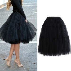 Midi bogata tutu suknja crna