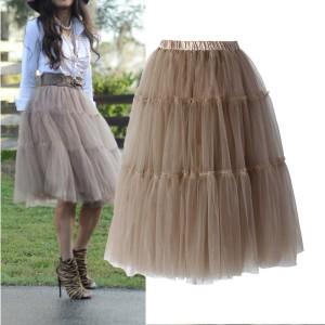 Midi princeza tutu suknja karamel boje
