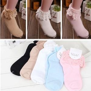 Kratke čarape s čipkom