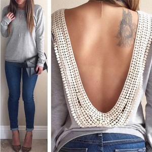 Casual majica otvorenih leđa