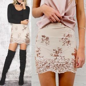 Party mini suknja sa šljokicama