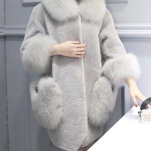 Luksuzna zimska vunena bunda