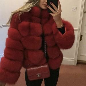 Kratka zimska bunda s ovratnikom 10 boja
