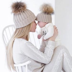 Komplet kapa s velikim coflekom za mame i djevojčice/ dječake