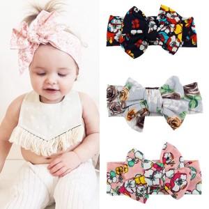 Dječji proljetno ljetni elastični turban s mašnom