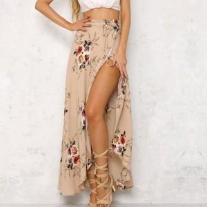 Maxi boho suknja cvjetni uzorak