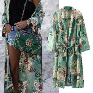 Maxi kimono cvjetni uzorak veličina S