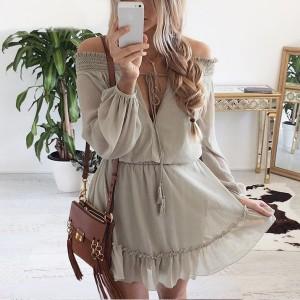 Mini boho gypsy haljina s volanima