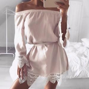 Mini off shoulder haljina s čipkom