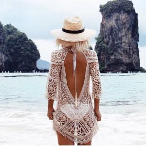Kačkana haljina za plažu otvorenih leđa