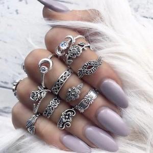 Set od 11 etno mini prstenova