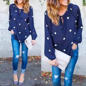 Bluza dugih rukava s točkicama