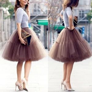 Midi tutu suknja sa 6 slojeva